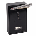 Phoenix Letra Front Loading Mail Box MB0116KB in Black with Key Lock