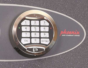 Phoenix Planet HS6071E Size 1 High Security Euro Grade 4 Safe with Electronic & Key Lock - Buy Safes Online Co. UK