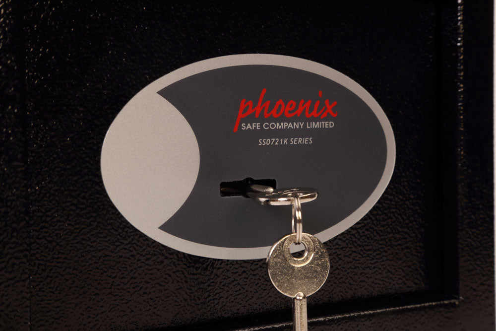 Phoenix Compact Home Office SS0721K Black Security Safe with Key Lock - Buy Safes Online Co. UK