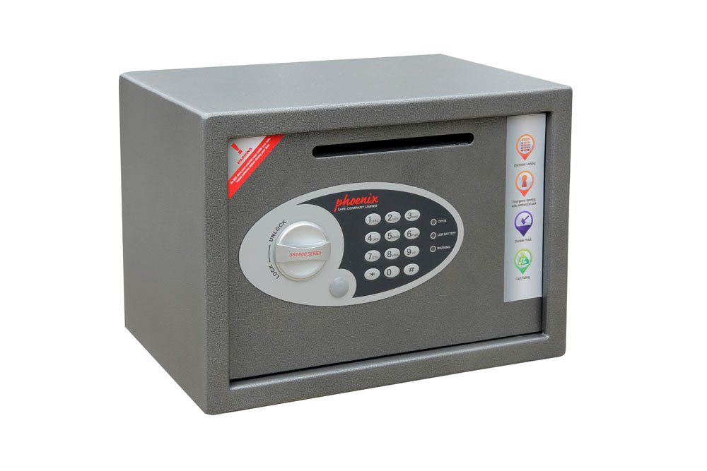 Phoenix Vela Deposit Home & Office SS0802ED Size 2 Security Safe with Electronic Lock - Buy Safes Online Co. UK