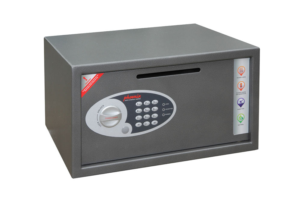 Phoenix Vela Deposit Home & Office SS0803ED Size 3 Security Safe with Electronic Lock - Buy Safes Online Co. UK