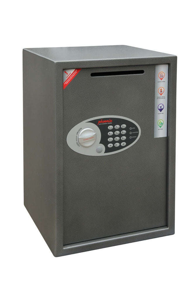 Phoenix Vela Deposit Home & Office SS0804ED Size 4 Security Safe with Electronic Lock - Buy Safes Online Co. UK