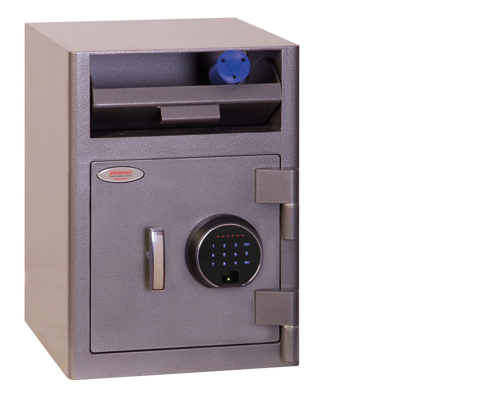 Phoenix Cash Deposit SS0996FD Size 1 Security Safe with Fingerprint Lock - Buy Safes Online Co. UK