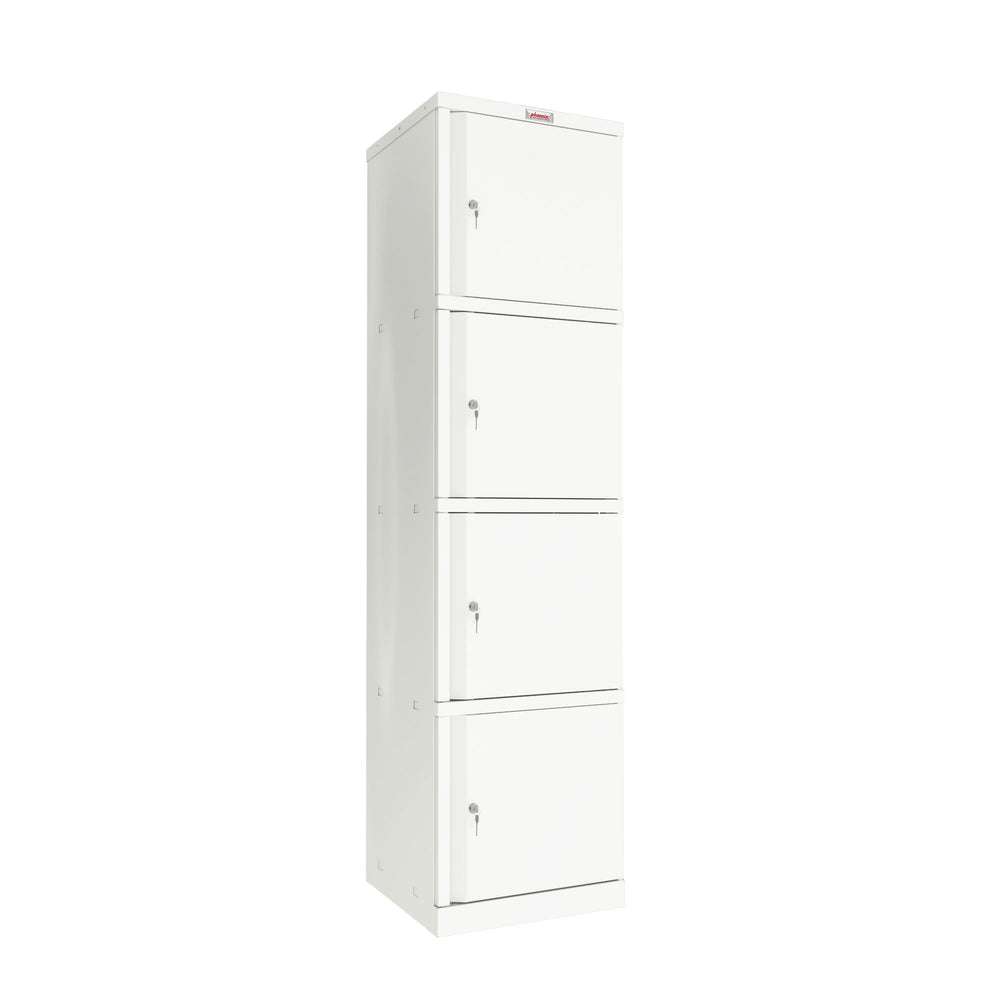 Phoenix SC Series SC1845/4WK 4 Door Stationery Cupboard in White with Key Lock