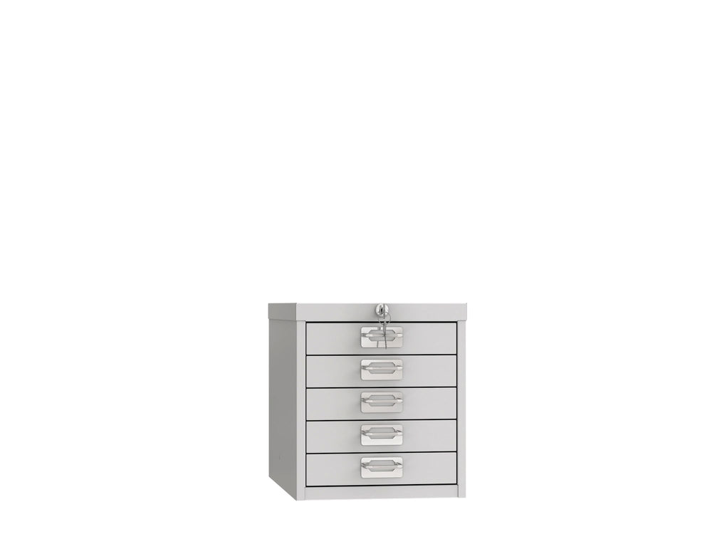 Phoenix MD Series MD0304G 5 Drawer Multidrawer Cabinet in Grey with Key Lock