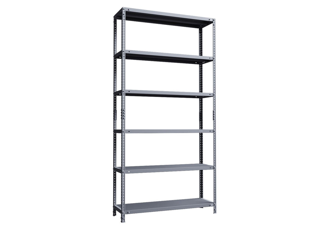 Phoenix AR Series AR2014/6G 6 Shelf Static Shelving Unit in Grey