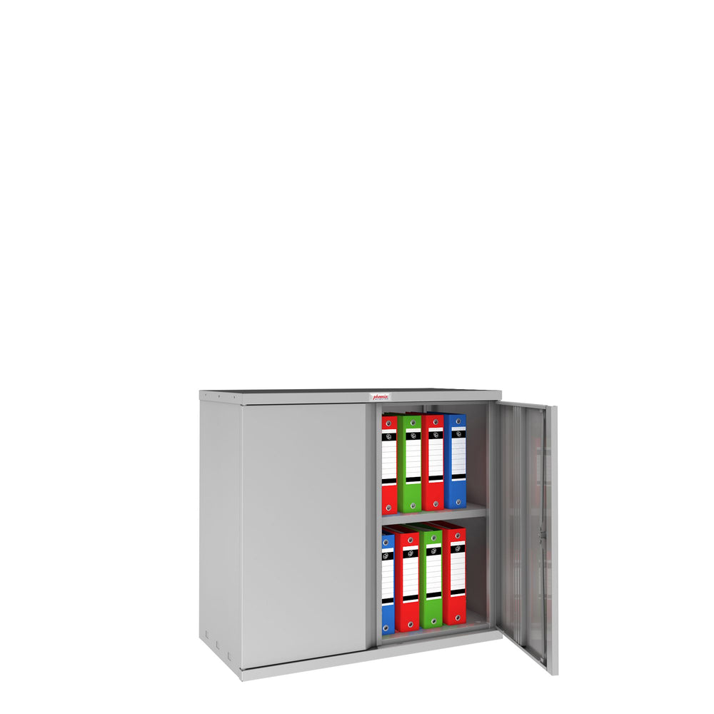 Phoenix SC Series SC0891GE 2 Door 1 Shelf Stationery Cupboard in Grey with Electronic lock