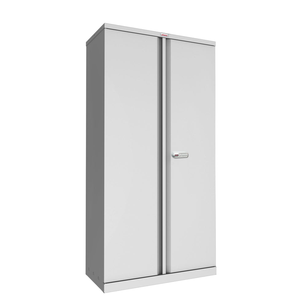 Phoenix SC Series SC1891GE 2 Door 4 Shelf Stationery Cupboard in Grey with Electronic lock