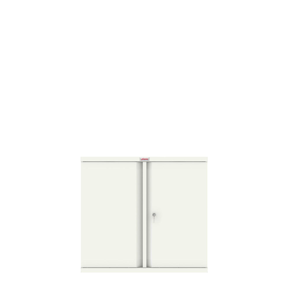 Phoenix SC Series SC0891WK 2 Door 1 Shelf Stationery Cupboard in White with Key lock