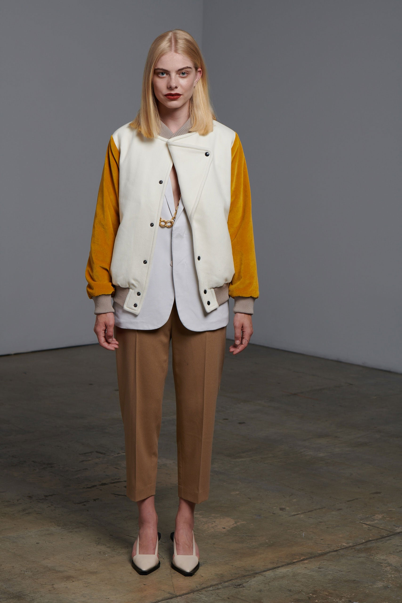 Pea Coat White Yellow