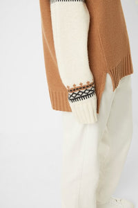 Patchwork Fairsle Highneck Knit