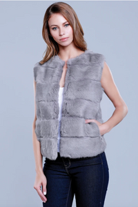 Rabbit Vest - Grey
