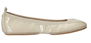 Samara Flat - Nude Patent Leather