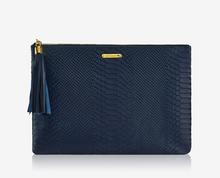 Uber Clutch - Embossed Python