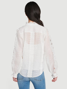 Scallop Button Down Shirt