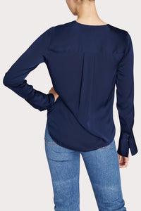 Elysa Silk Surplice Blouse