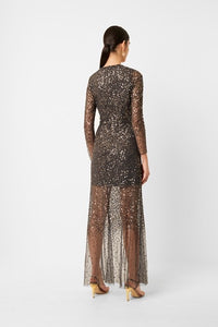 Emille Sparkle V Neck Dress