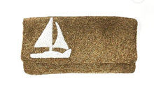 Foldover Sailboat Beaded Clutch