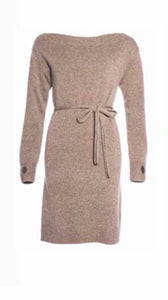 Boat Neck Cashmere Dress
