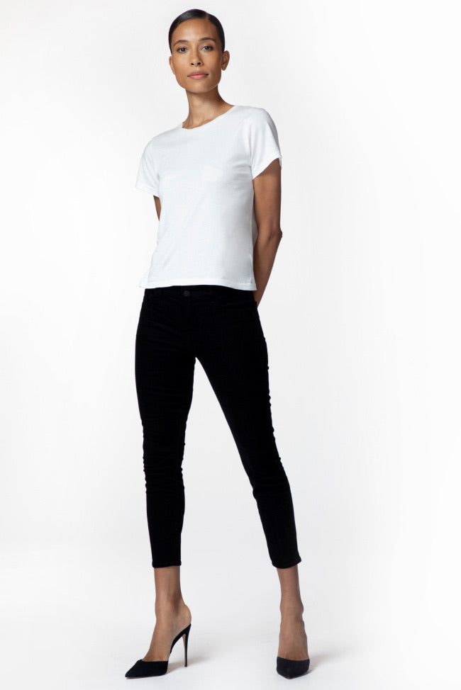 835 Mid Rise Skinny Cords - Black