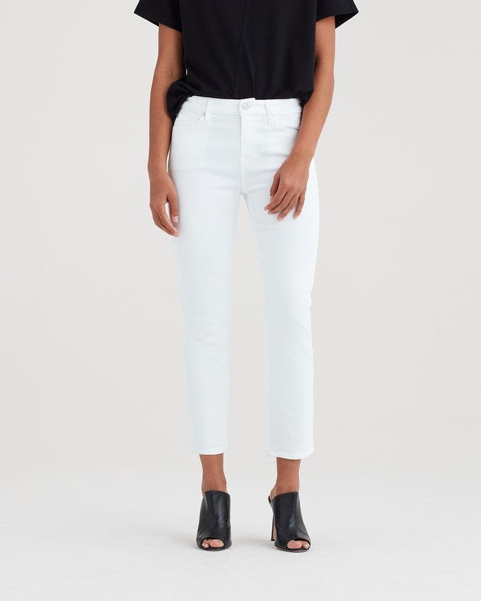 Kimmie Crop - Clean White