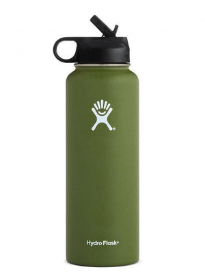 Hydro Flask 40 oz Wide Mouth W/ Straw Lid Water Bottle