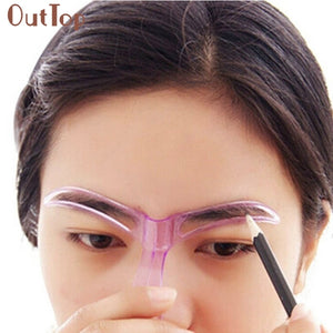 Pretty New Professional Beauty Tool Makeup Grooming Drawing Blacken Eyebrow Template