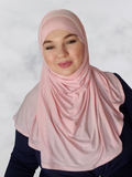 Soft Pink  Jersey Instant Shawl