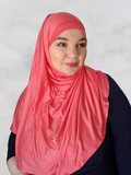 Raspberry Pink Jersey Instant Shawl