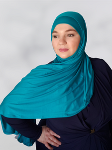 Teal Green Instant Shawl