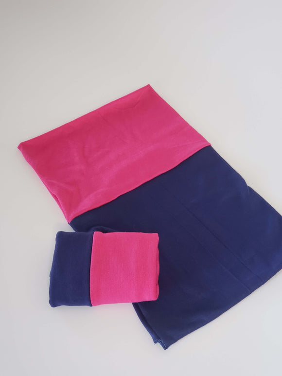 Dark navy blue & Hot Pink