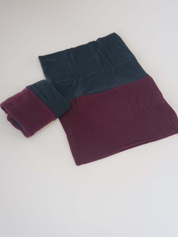 Pine tree green deep burgundy two color reversible undercap
