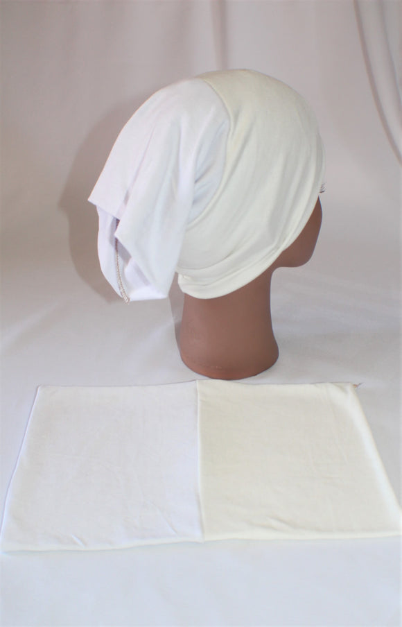 White and ivory soft reversible undercap