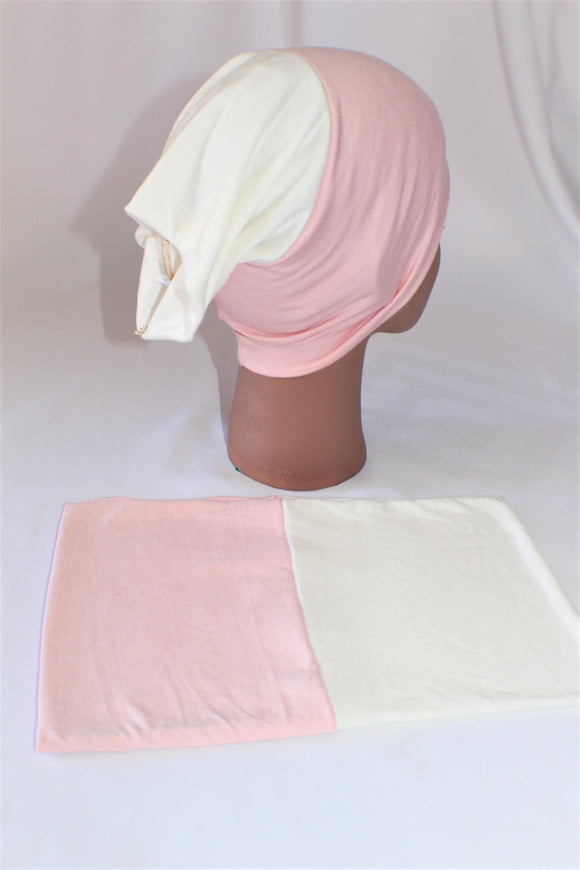 Soft pink ivory reversible undercap