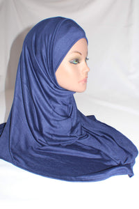 Enisa Midnight blue 2 pice pull on hijab