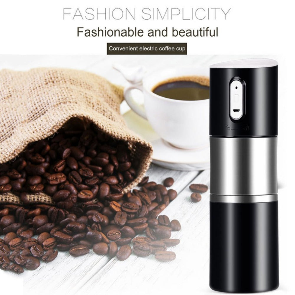 Portable Size Rechargeable Automatic Electric Coffee Maker USB Charging Stainless Steel Cup Coffee Machine Bottle