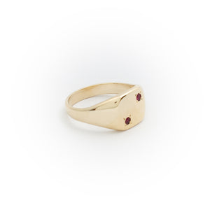 Ruby Dice Ring