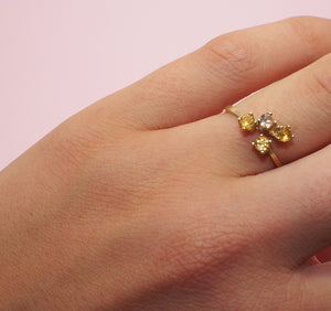Gold Four Stone Ring
