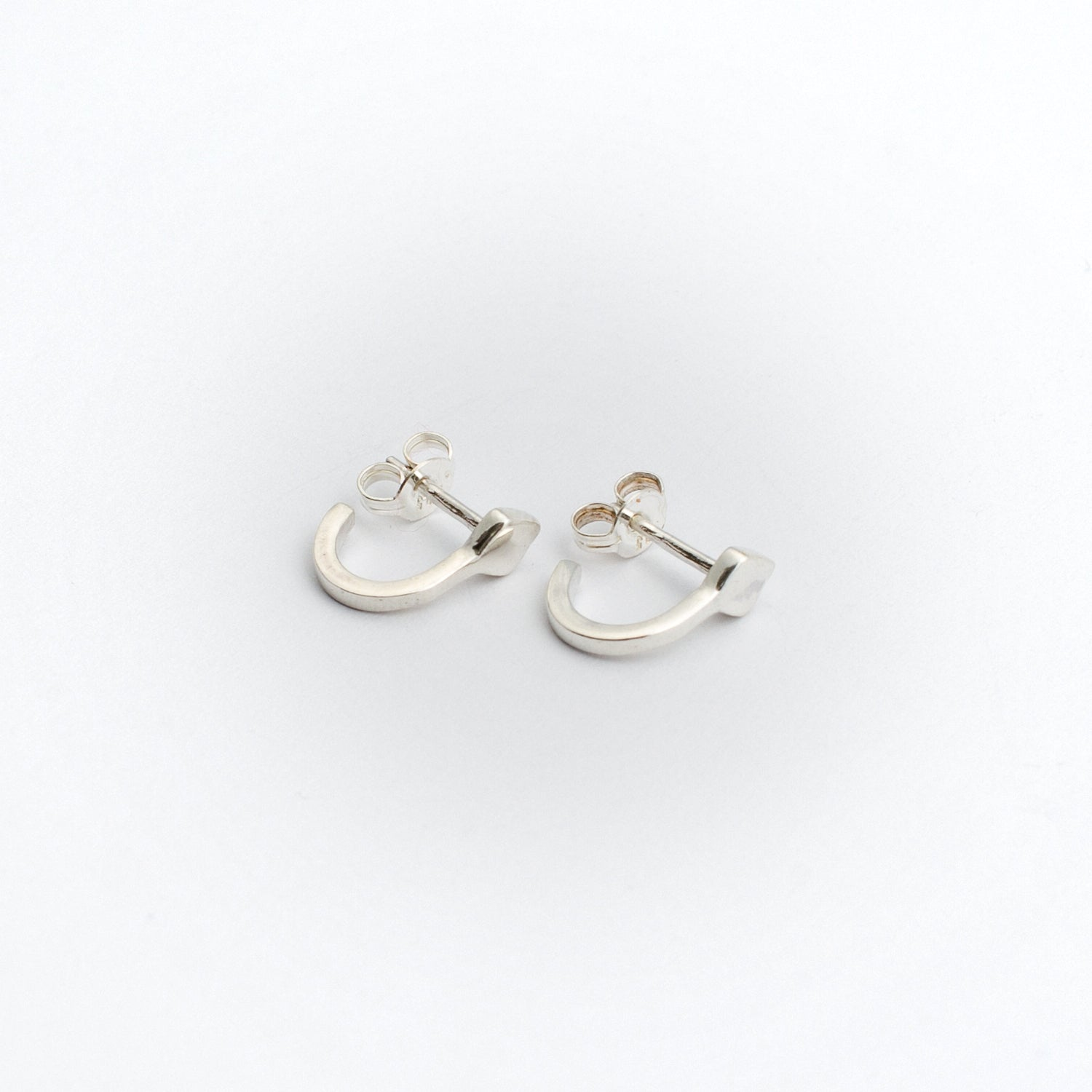 Diamond Hoop Earring - Sterling Silver