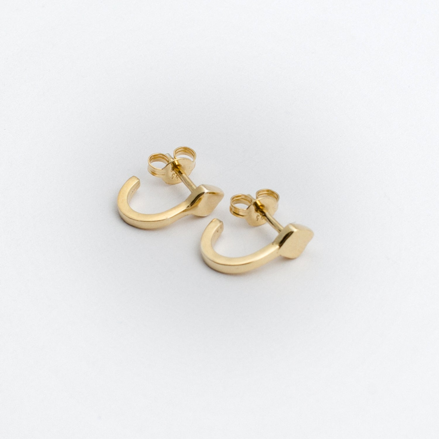 Diamond Hoop Earring - Gold Plated