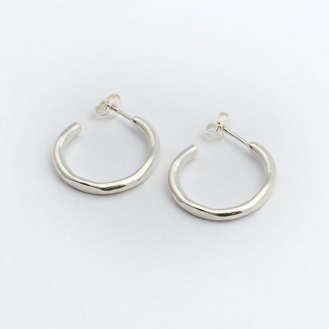 Circle Hoops - Sterling Silver