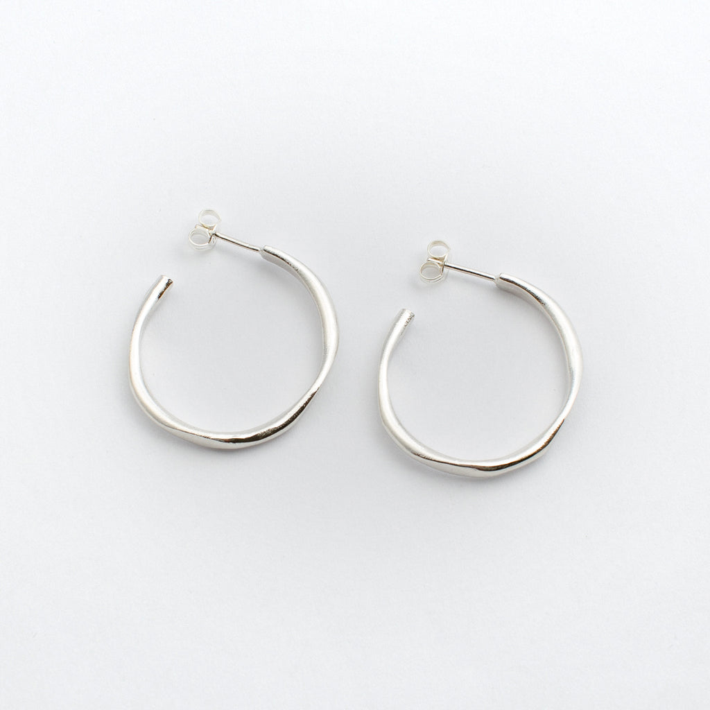 Oval Hoops - Sterling Silver