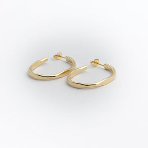 Oval Hoops - Gold Plated