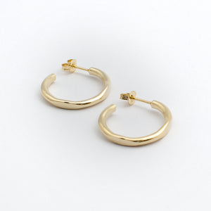 Circle Hoops - Gold Plated