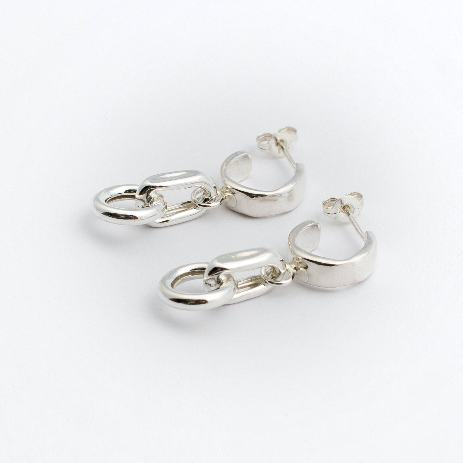 Dream Chain Earrings - Sterling Silver