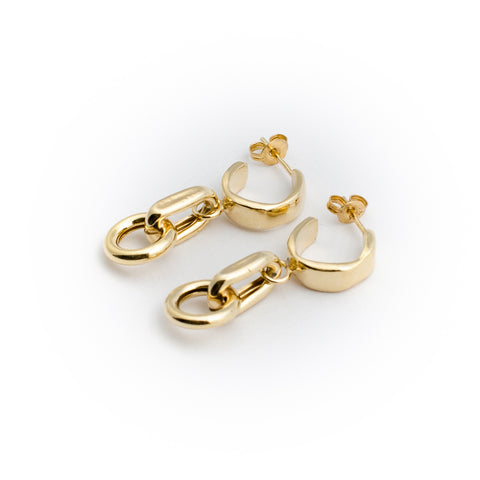 Dream Chain Earrings - Gold Plated