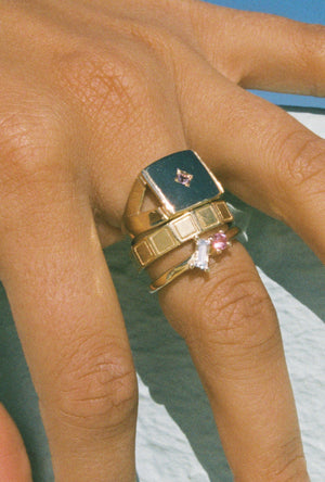 Vacation Ring ~ Pink and White Sapphire