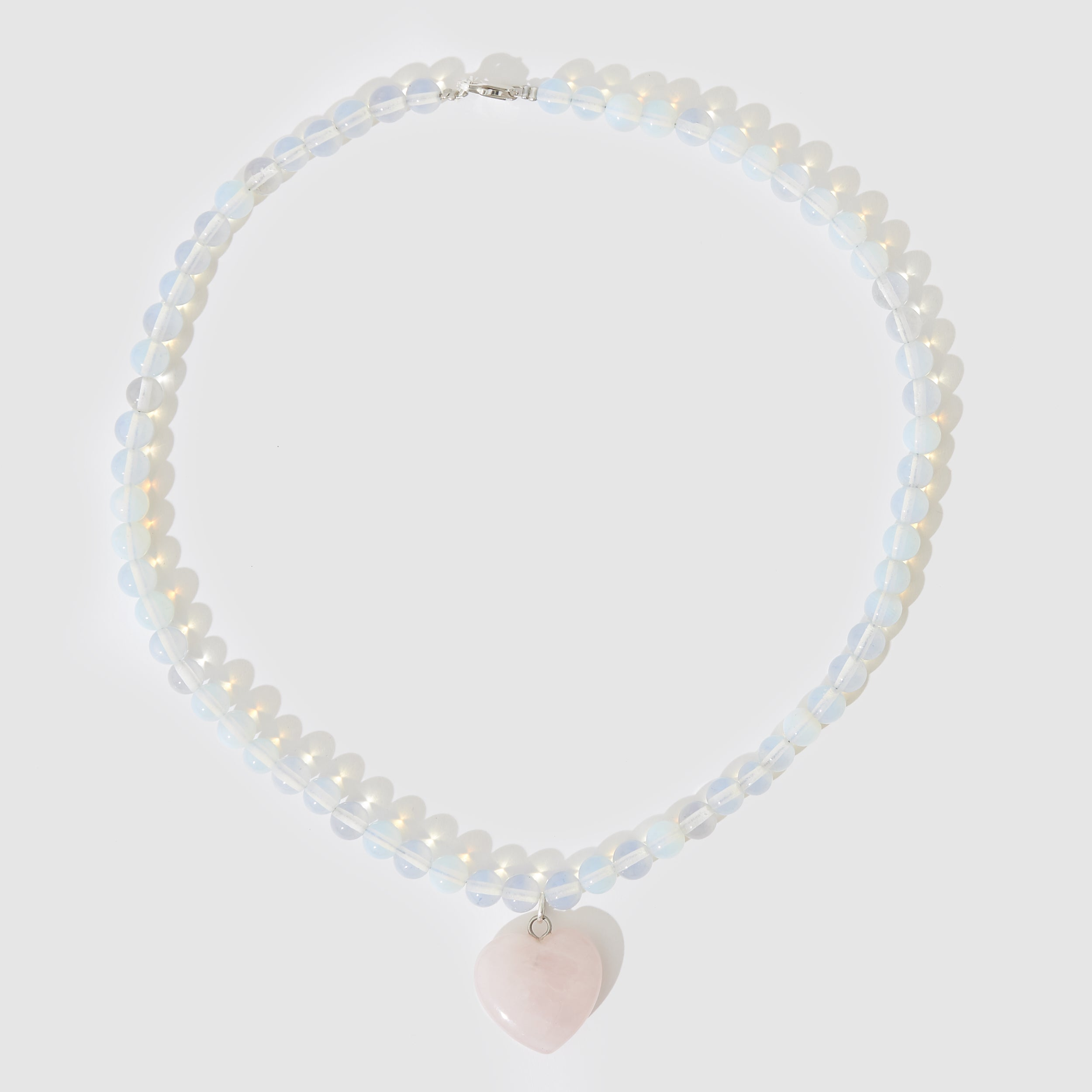 Holiday Beaded Necklace - Moonstone