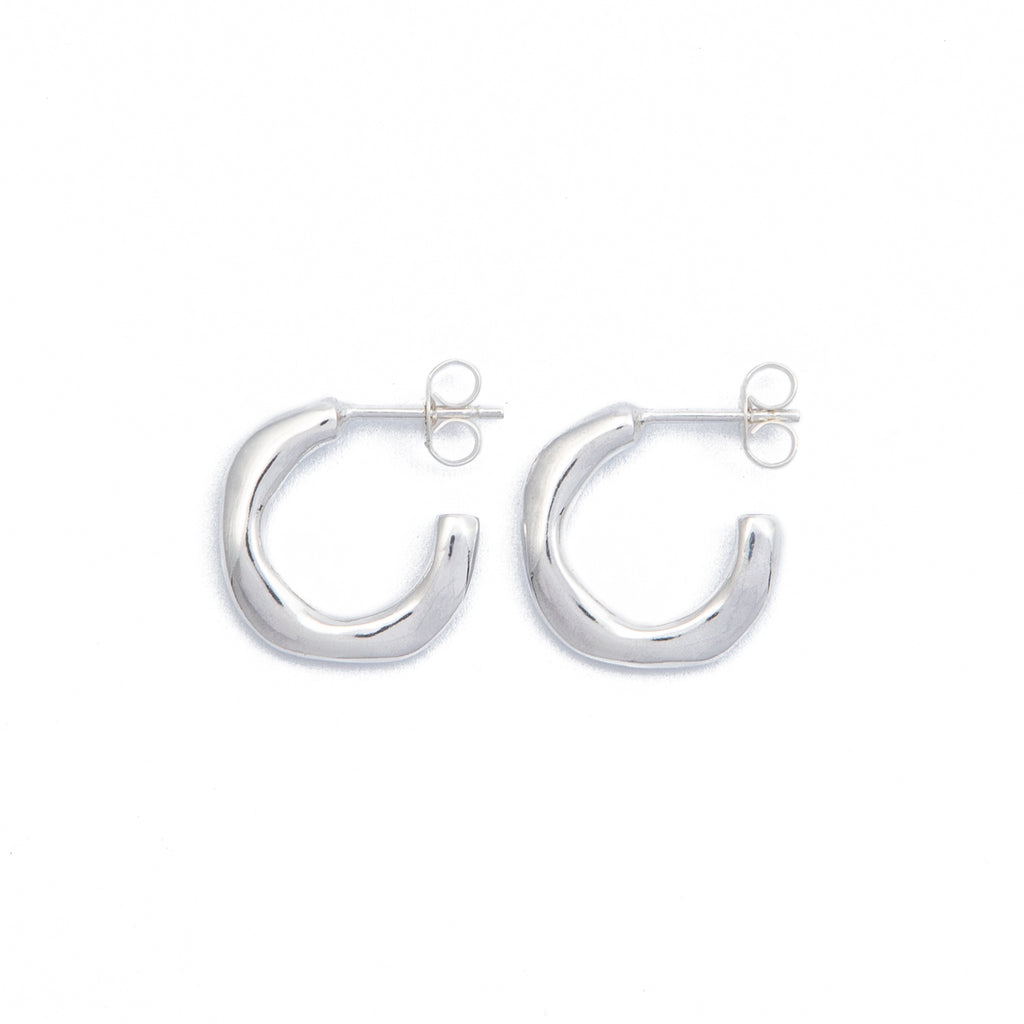 Wave Hoops - Sterling Silver