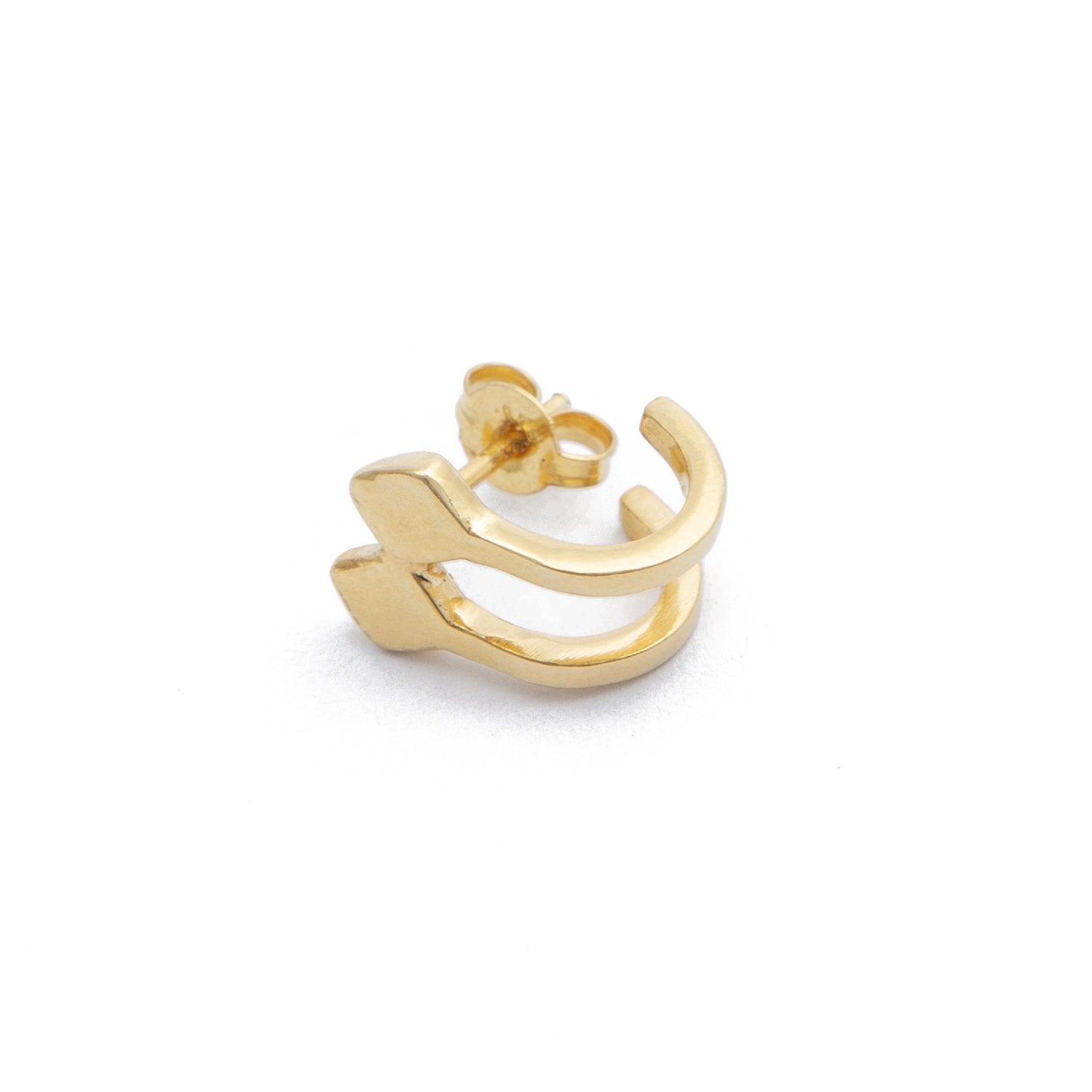 Double Hoop Earring - Gold